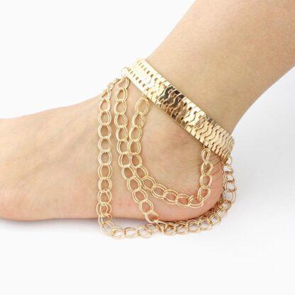 Sonya řetízek na boty na vysokém podpatku zlatý